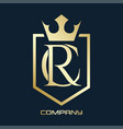 luxury rc logo vector image