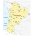 map new french region nouvelle-aquitaine vector image vector image