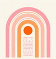 minimal geometric typography design for flyers vector image