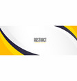 modern yellow wave banner with text space vector image vector image