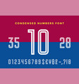 numeric and symbol font sport font with numeric vector image