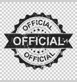 official scratch grunge rubber stamp on isolated vector image