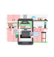 online shopping store for kitchen appliances vector image vector image