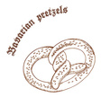 pencil hand drawn of pretzel with sesame with vector image vector image