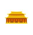 po lin monastery in hong kong traditional chinese vector image vector image