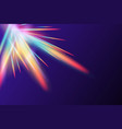 rainbow flare lens realistic effect vector image vector image