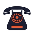 rotary telephone icon vector image vector image