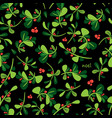 seamless winter floral pattern christmas vector image vector image