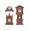 set of old vintage clock flat icon vector image vector image