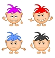 smilies girls set vector image vector image