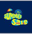 summer sale banner design vector image vector image