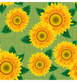sunflowers seamless vector image vector image