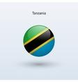 Tanzania round flag vector image vector image