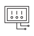 thin line electric switch icon vector image vector image