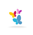 Three butterfly logo vector image