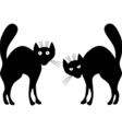 two black cats vector image vector image