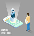 virtual assistance isometric vector image vector image