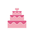 wedding icon design template isolated vector image vector image