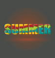 word summer from ripped paper layers vector image