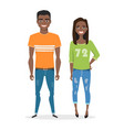 young black african american people in casual vector image vector image