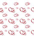 set of romantic red heart on valentine love day vector image
