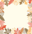 Autumn watercolor frame with leaves vector image