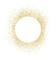 Gold sparkles on white background White circle vector image