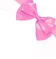 Pink bow vector image