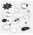 Blank text comic black speech bubbles in pop art vector image
