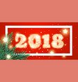 2018 new year background with christmas tree vector image vector image