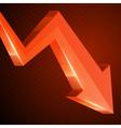 3d growth arrow vector image