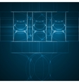 Abstract technology technical drawing vector image vector image
