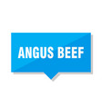 angus beef price tag vector image vector image