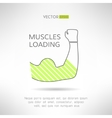 Arm with strong biceps loading muscles idea vector image vector image