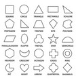 basic geometric shapes vector image vector image