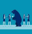 bear market presents downtrend stock market vector image