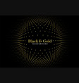 black and golden halftone pattern background vector image