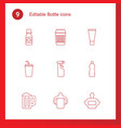 bottle icons vector image vector image