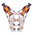Bright amphora zodiac Aquarius sign vector image vector image