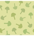 Broccoli seamless pattern vector image vector image