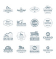 building vehicles logo icons set simple style vector image vector image