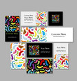 business cards design colorful abstract vector image vector image