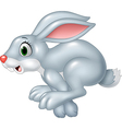 Cartoon funny panic bunny running isolated vector image vector image