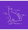 Cat Line Icon vector image vector image