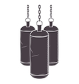 Chains Hanging a bag weights vector image vector image