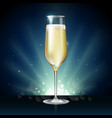 champagne glass on holiday winter background vector image