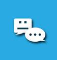 chatbot notification bubble alert messenger icon vector image