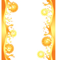 citrus splash frame vector image