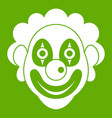 clown icon green vector image vector image
