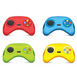 Color Gamepad Set vector image vector image